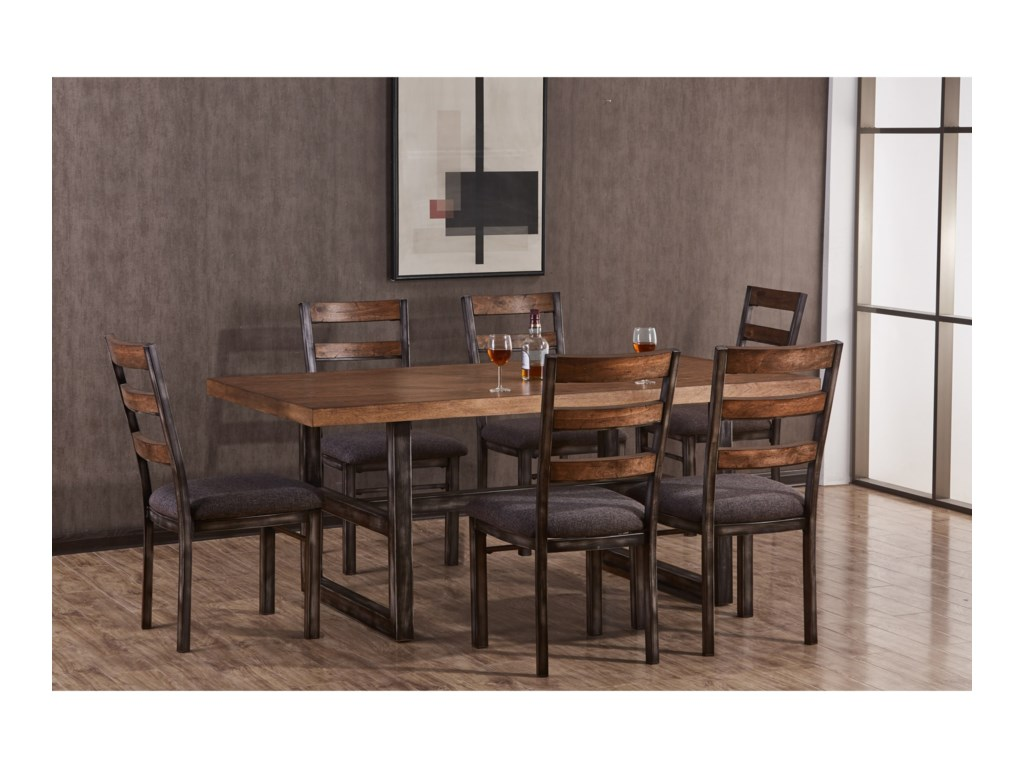 United Furniture Industries Chandler7 Piece Table and Chair Set
