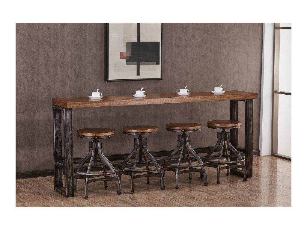 United Furniture Industries Chandler Contemporary Industrial Console