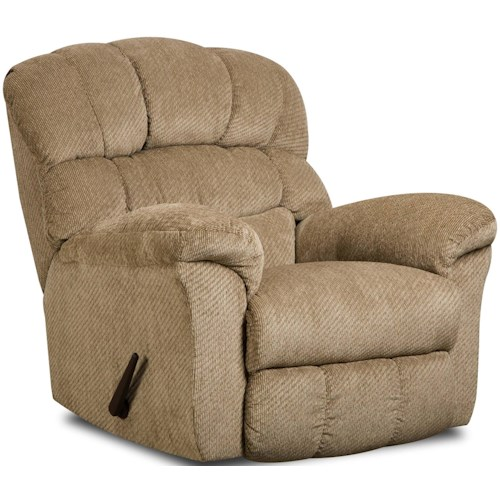 Umber KIMBERLY Large Scale Rocker Recliner with Plush Back Cushions