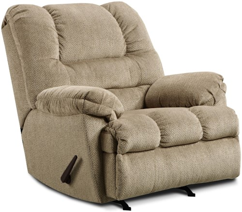United Furniture Industries 600 Casual Big Man 3-Position Rocker Recliner
