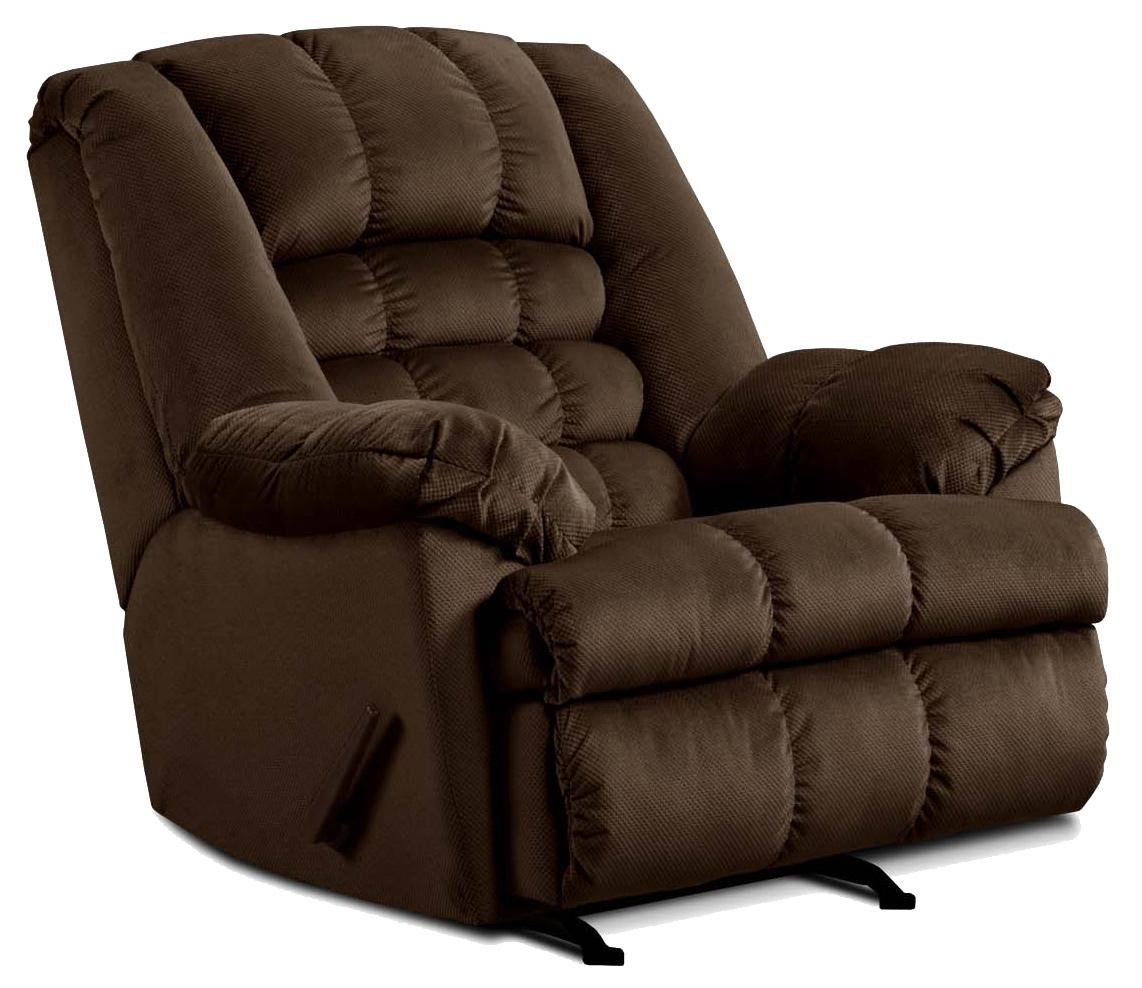 Simmons Upholstery 622Casual Rocker Recliner
