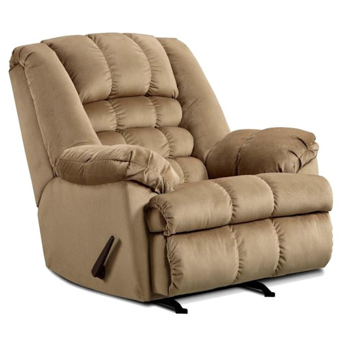 United Furniture Industries 622 Casual Big Man's Rocker Recliner with Large and Comfortable Construction