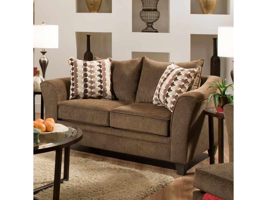 Simmons Upholstery 6485Transitional Loveseat
