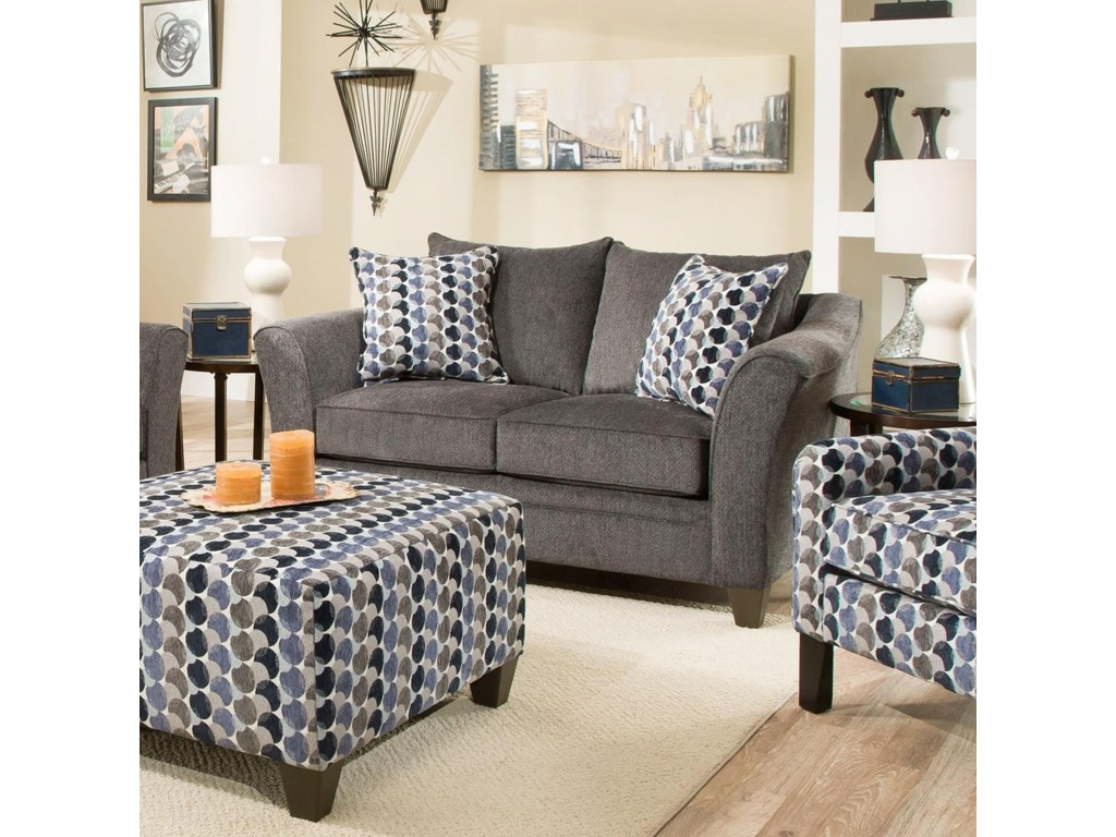 Blue Hill AlastorTransitional Loveseat