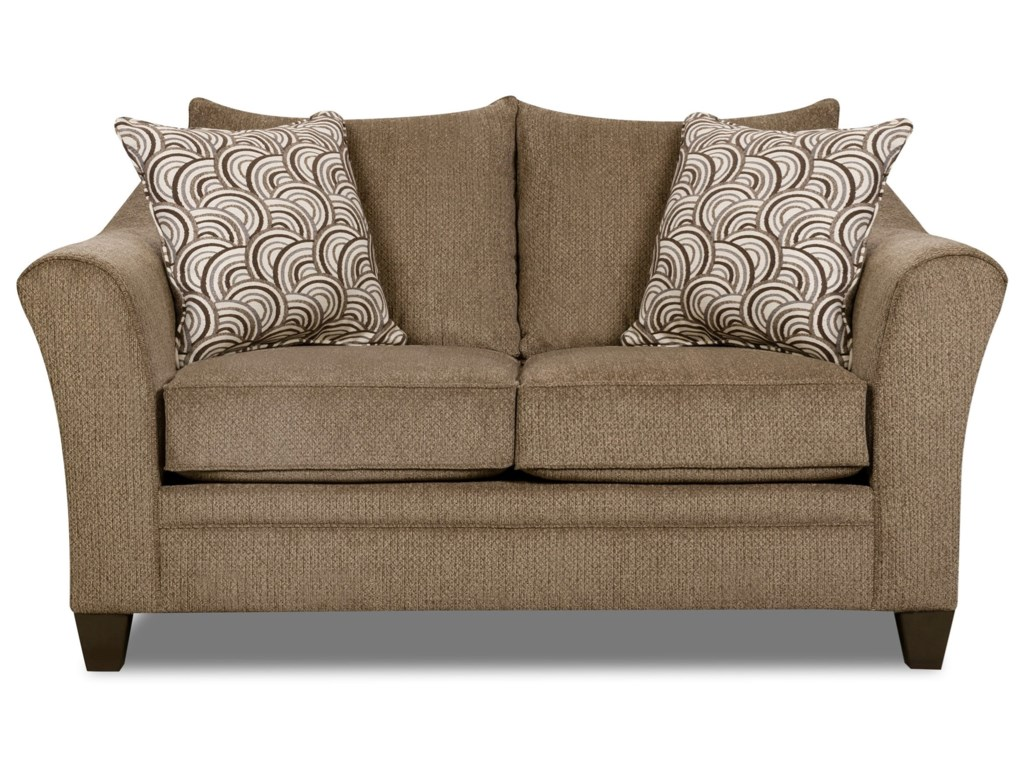 United Furniture Industries 6485Transitional Loveseat