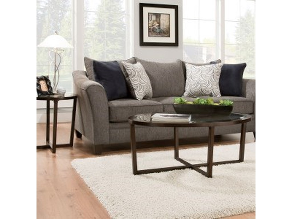 Simmons Upholstery 6485Transitional Queen Slepper Sofa