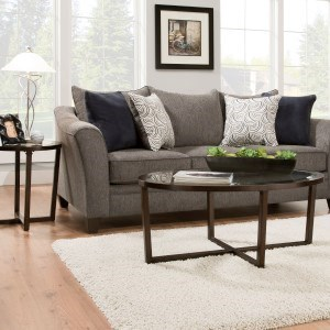 Incroyable United Furniture Industries 6485 Transitional Queen Sleeper Sofa With Wood  Legs