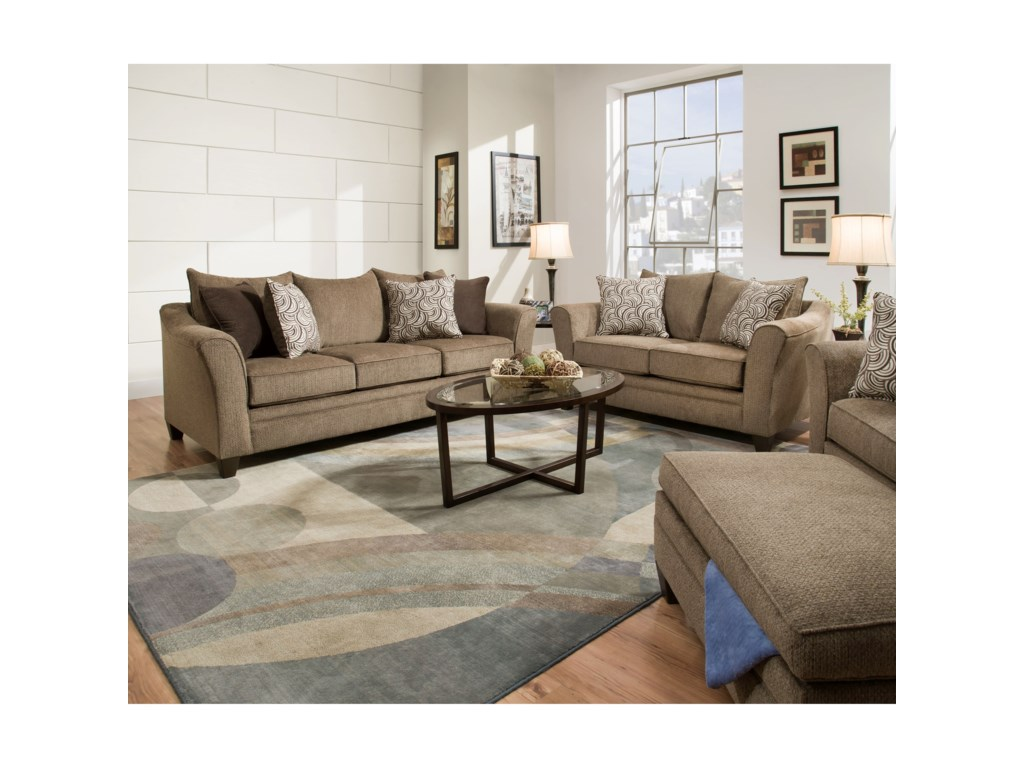Simmons Upholstery 6485Transitional Sofa