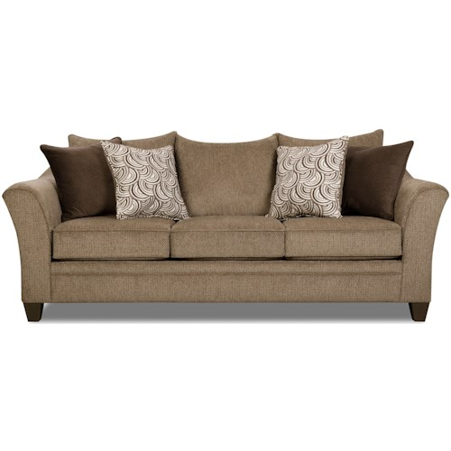 United Furniture Industries 6485 Transitional Sofa with Wood Legs