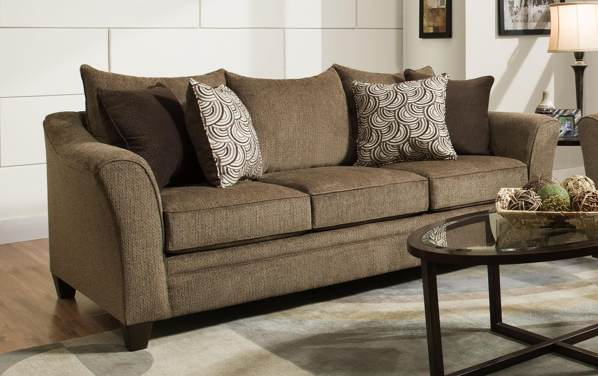United Furniture Industries 6485 Transitional Sofa With Flared Arms