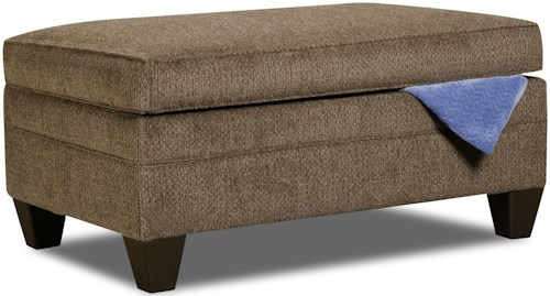 United Furniture Industries 6485 Transitional Storage Ottoman