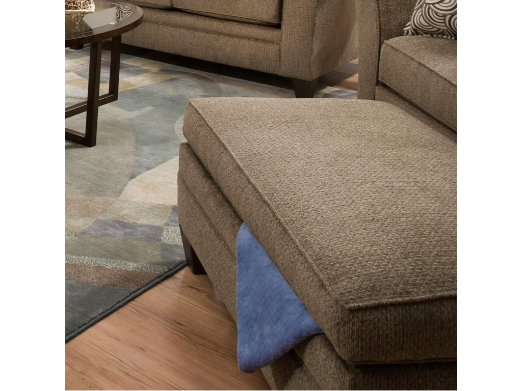 Simmons Upholstery 6485Transitional Storage Ottoman