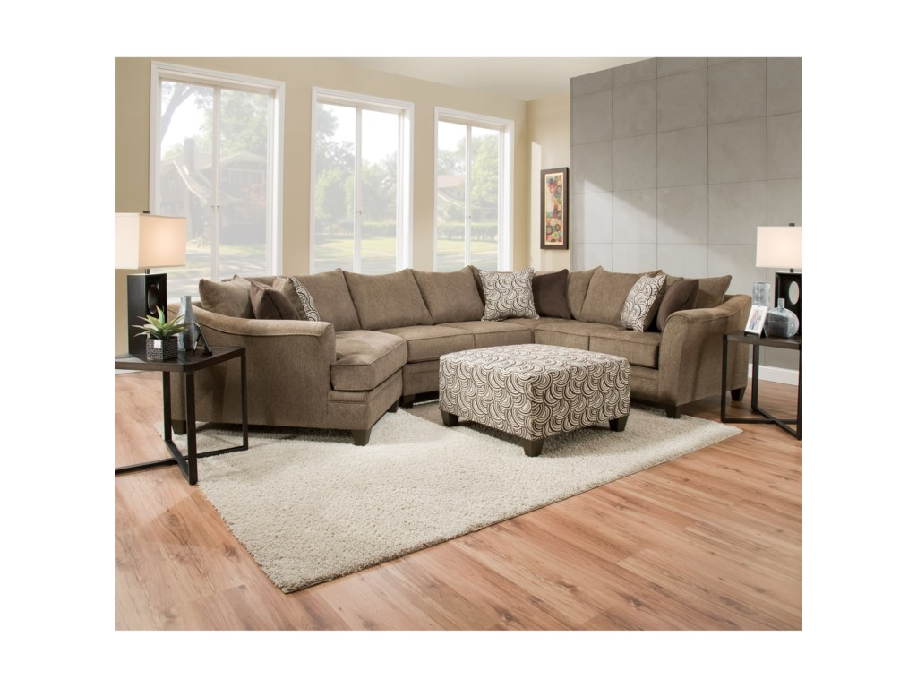 Blue Hill AlastorTransitional Sectional Sofa