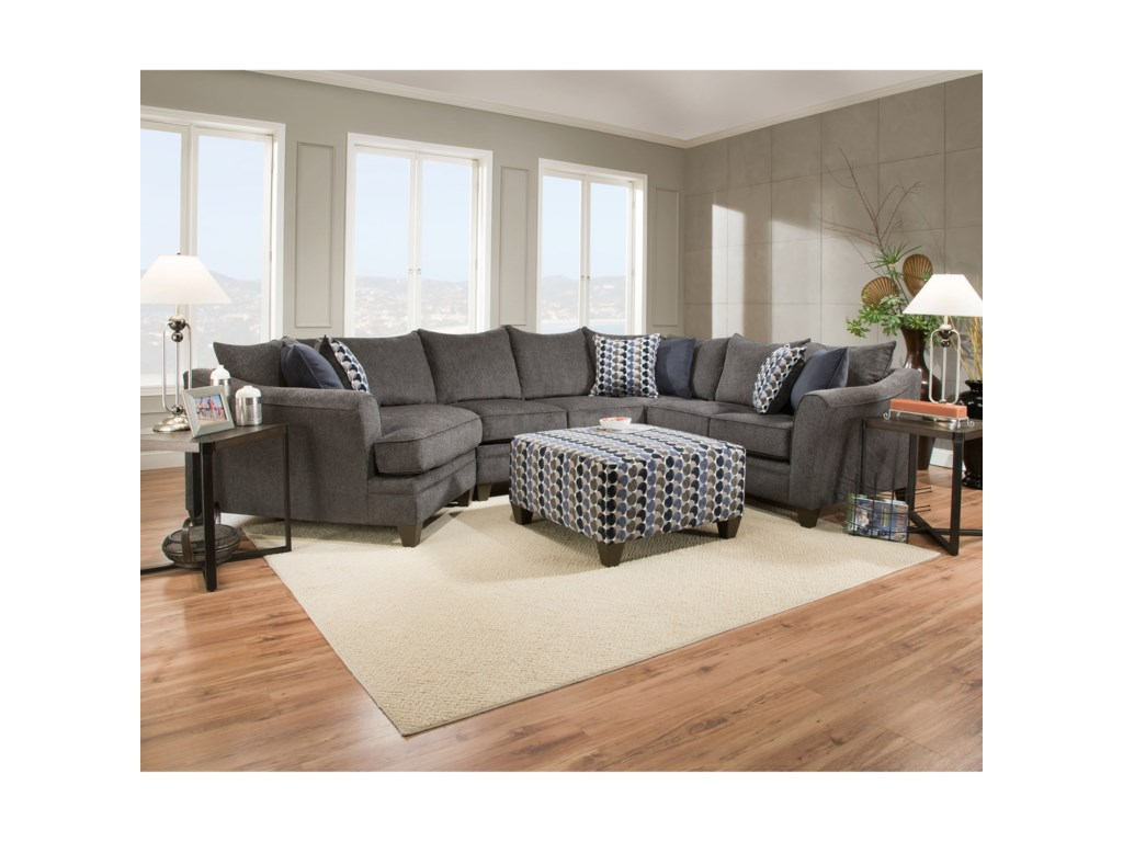 United Furniture Industries 6485Transitional Sectional Sofa