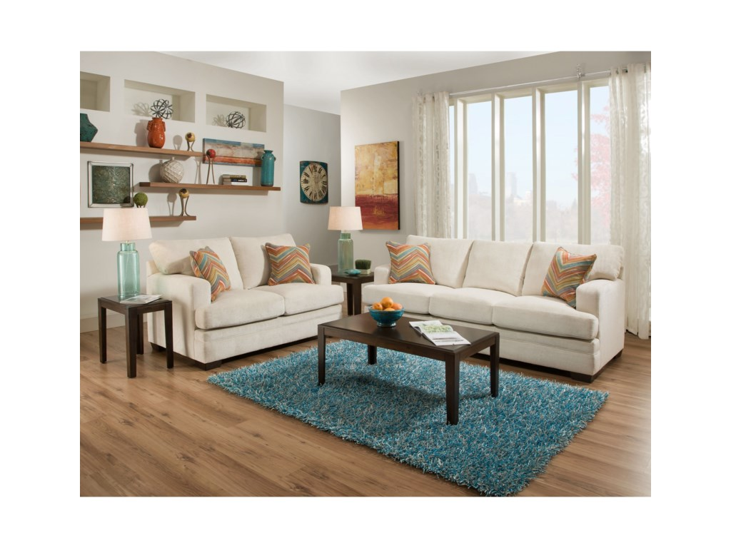 United Furniture Industries 6491Transitional Stationary Sofa