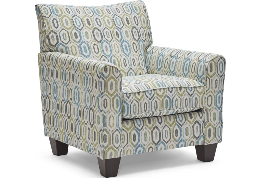 Simmons Upholstery 6547BR 2158AccentChair Contemporary ...