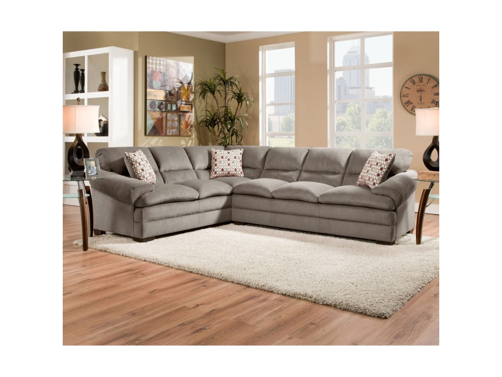 United Furniture Industries 6587Casual Sectional Sofa