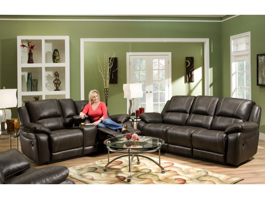 United Furniture Industries 660Casual Double Motion Sofa