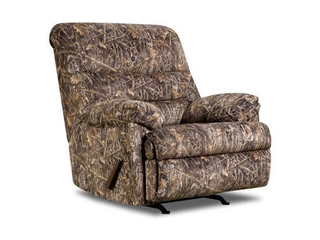 Simmons Upholstery 683 683 Conceal Brown Rocker Recliner Dunk