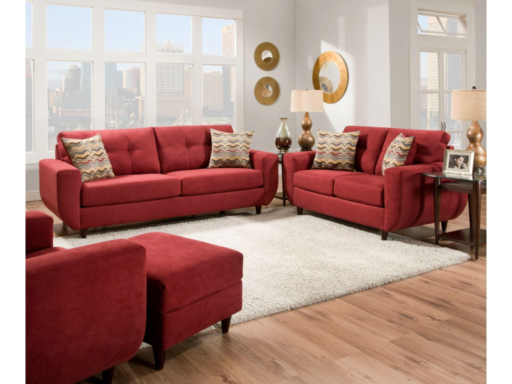 United Furniture Industries 6950Stationary Living Room Group