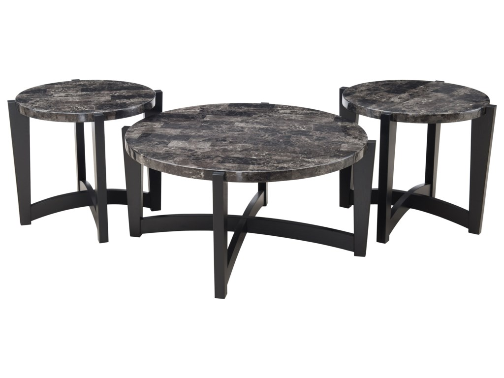 Shown with matching end tables.