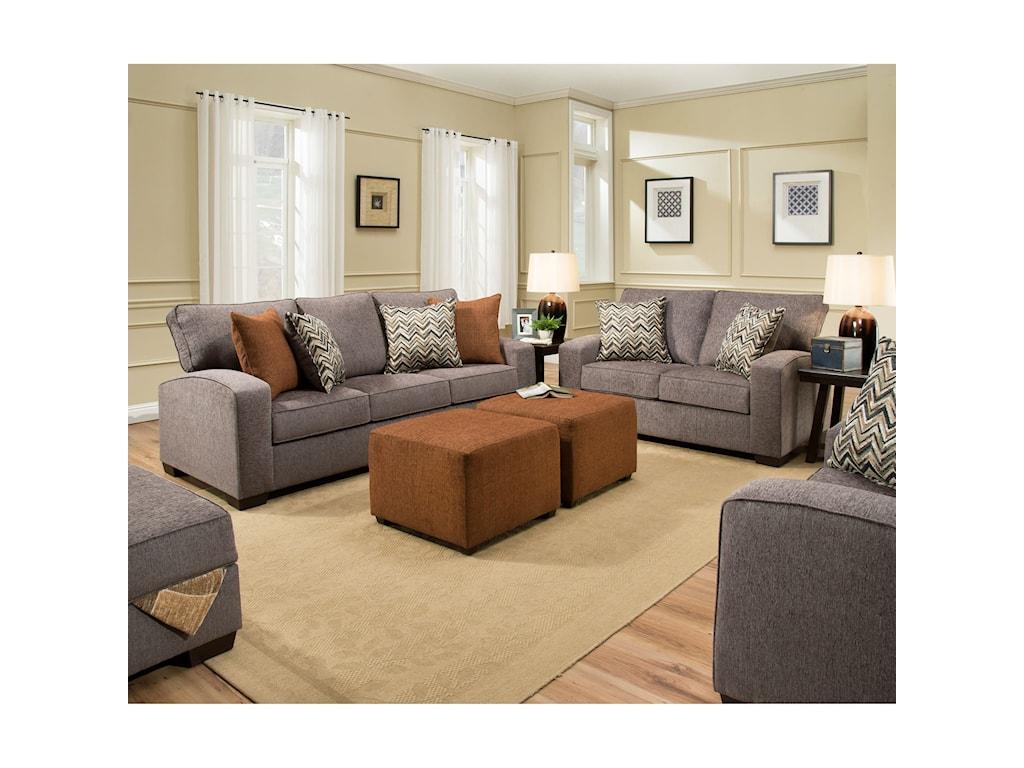 United Furniture Industries 7077Love Seat