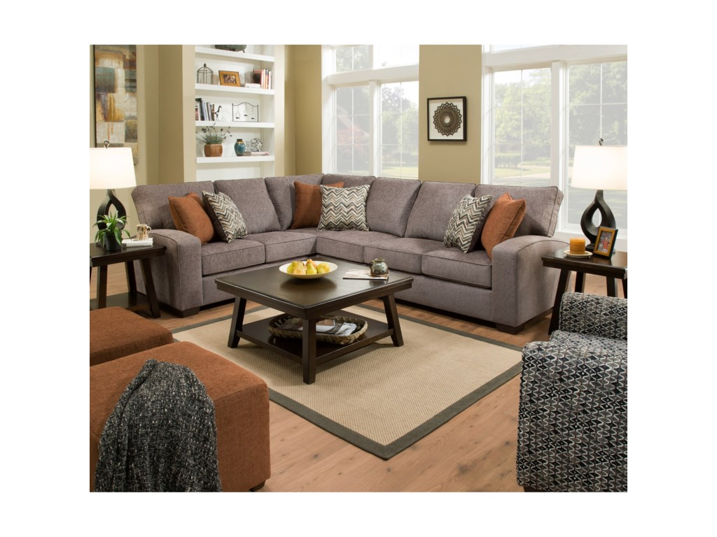 United Furniture Industries 7077Sectional
