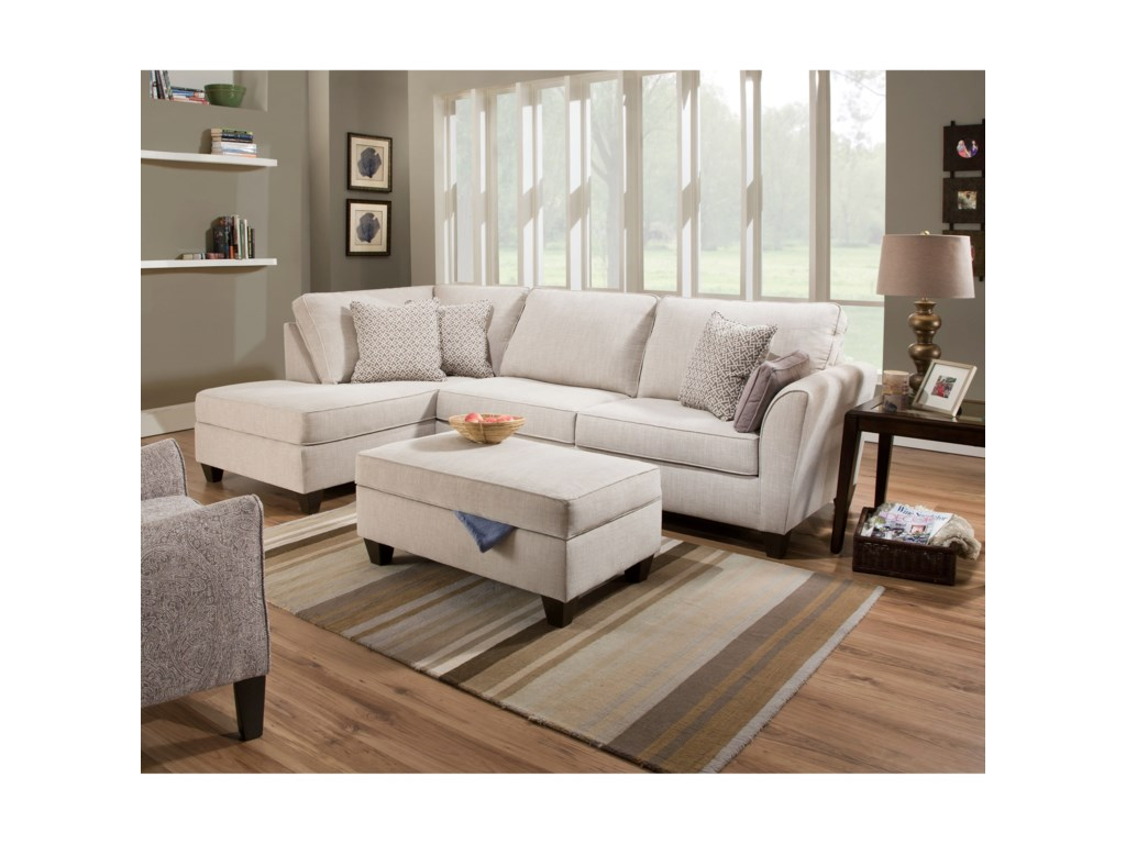 United Furniture Industries 70812-Piece Sectional