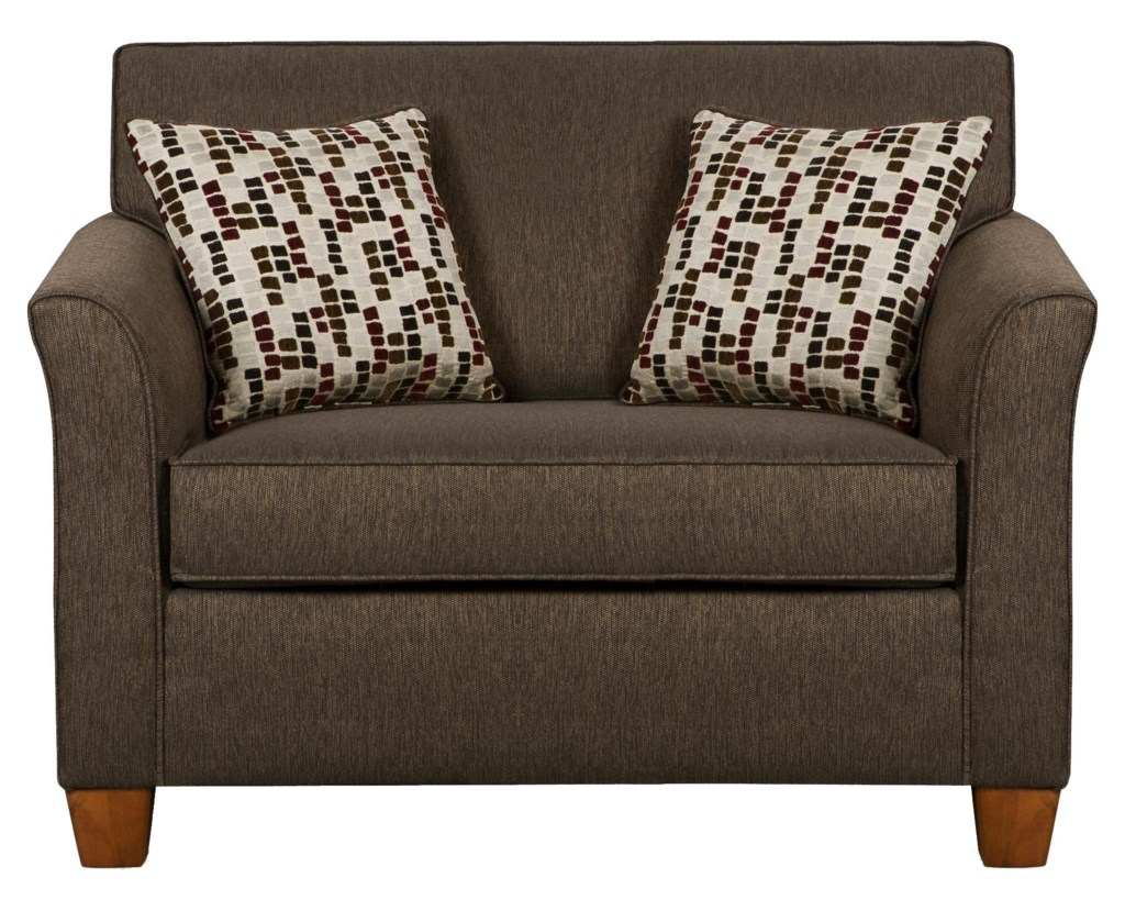 Simmons Upholstery 7251 Twin Size Sofa Sleeper in Casual Furniture