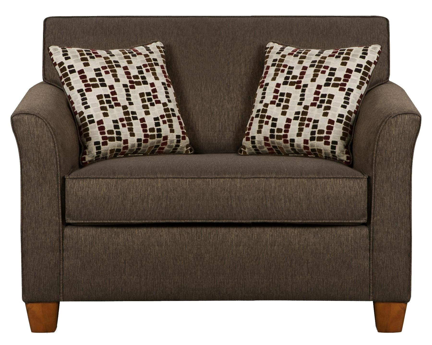 7251 Twin Size Sofa Sleeper In Casual Furniture Style By Simmons Upholstery