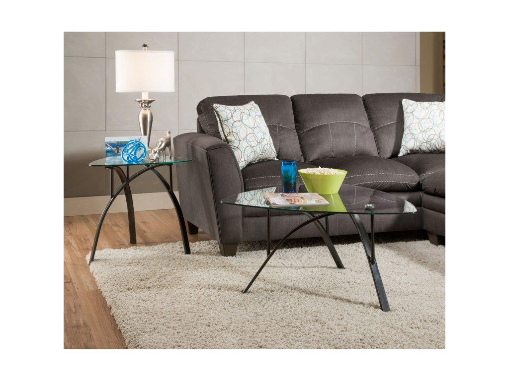 Shown with matching sofa.