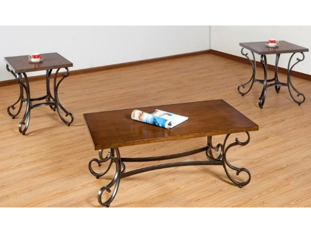 Simmons Upholstery 7311Occasional Table Group