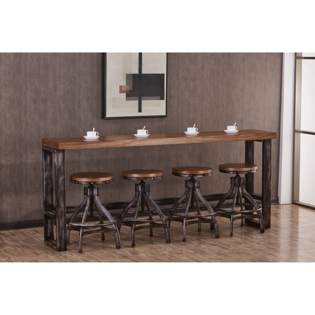 Simmons Upholstery Chandler Contemporary Industrial Console Table
