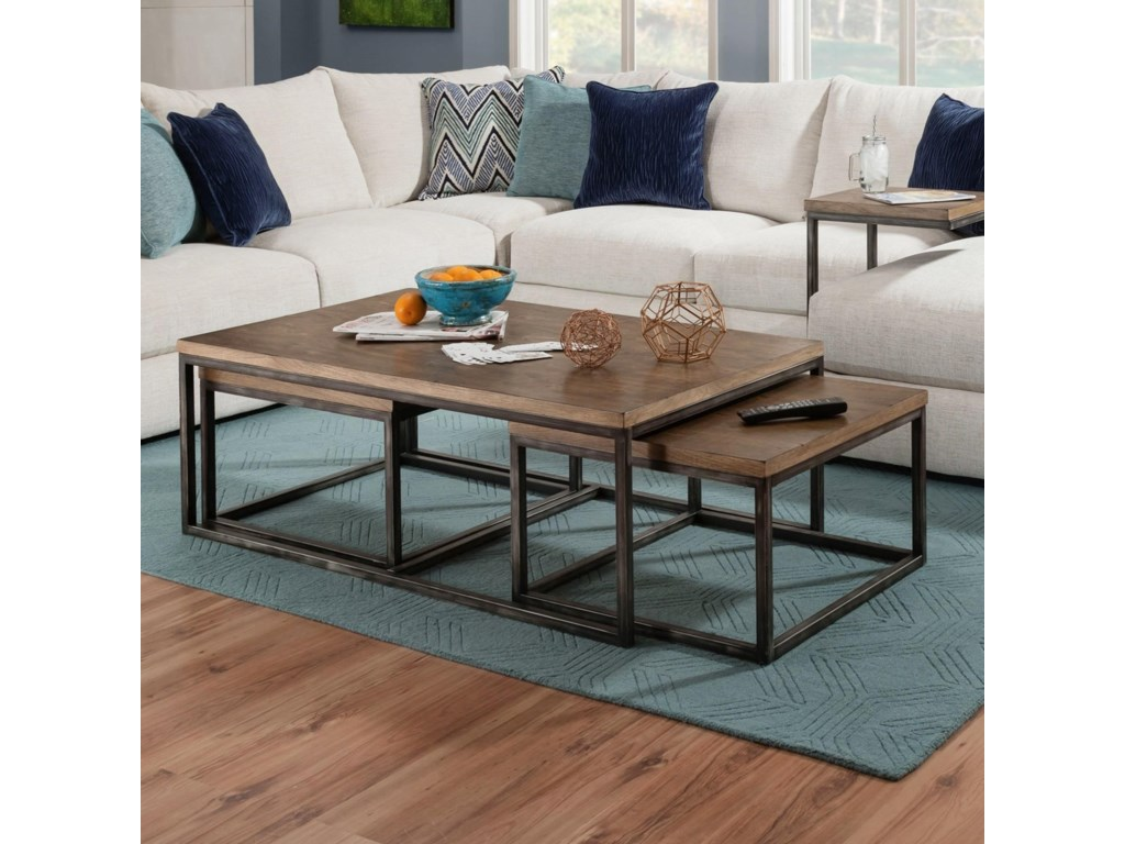 United Furniture Industries 7326Nesting Coffee Table