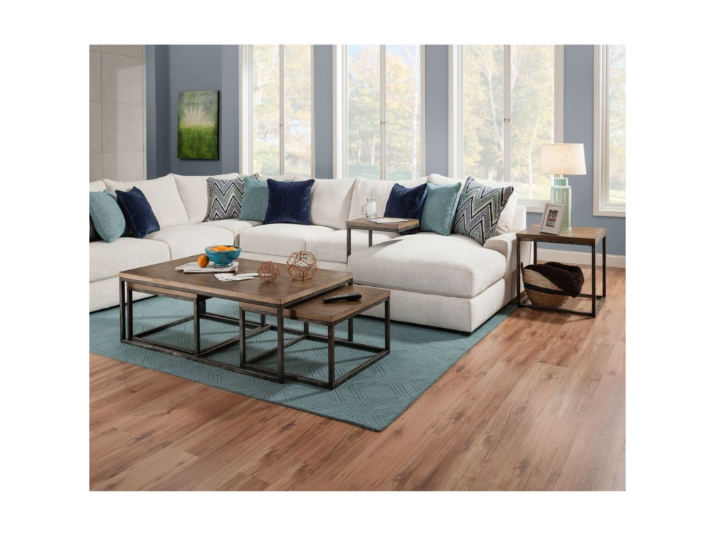 Simmons Upholstery ChandlerNesting Coffee Table