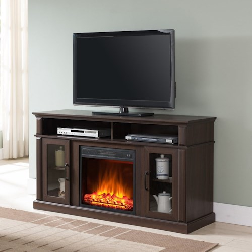 United Furniture Industries 7579 Fireplace Media Center With Door And Shelf Storage