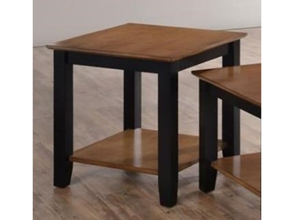 Simmons Upholstery 7503End Table with Shelf