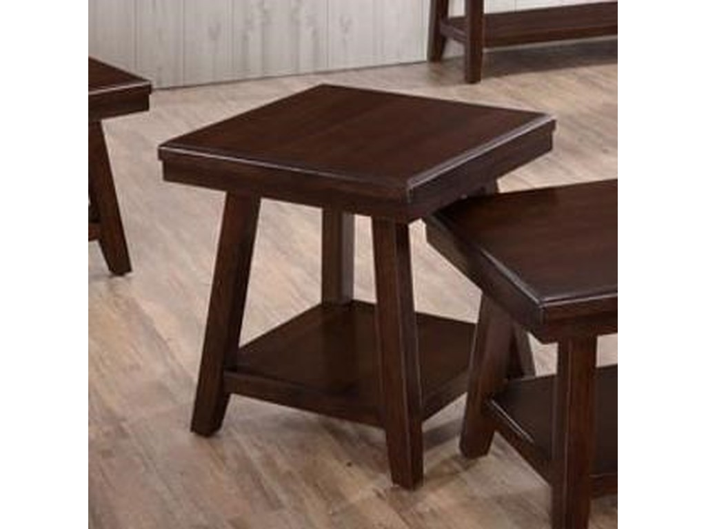 United Furniture Industries 7506Square End Table
