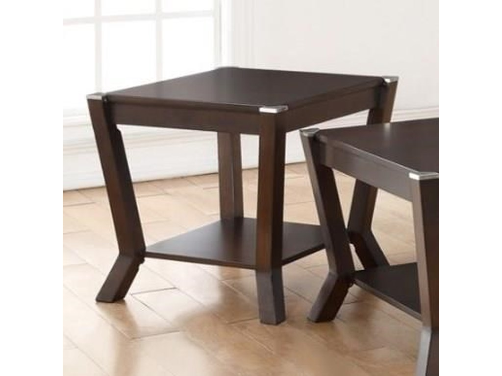 Simmons Upholstery 7516End Table with Shelf