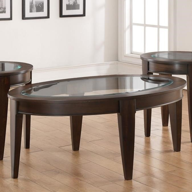 United Furniture Industries 7519Oval Cocktail Table