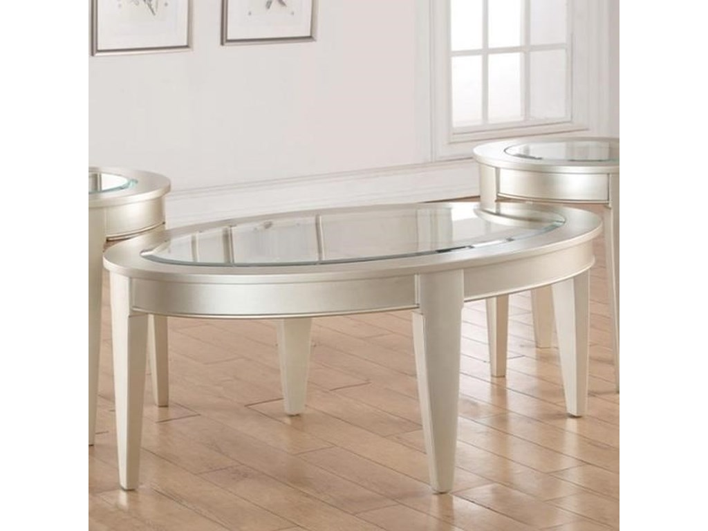 Simmons Upholstery 7520Oval Cocktail Table