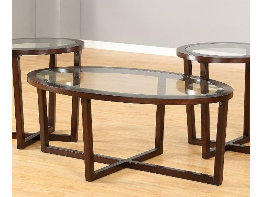 United Furniture Industries 7526Oval Cocktail Table