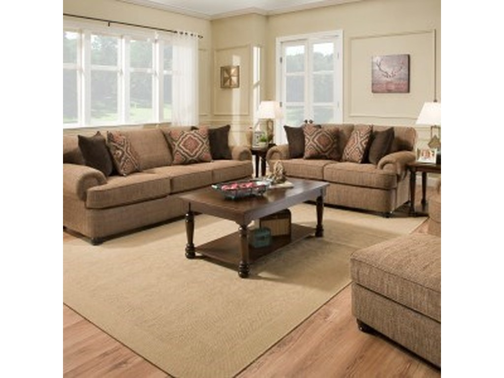 Simmons Upholstery 7533 BRLiving Room Group