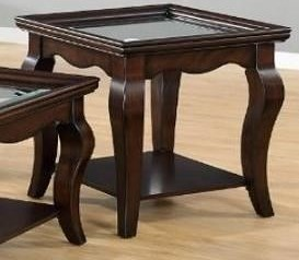 United Furniture Industries 7533 Square End Table with Glass Top