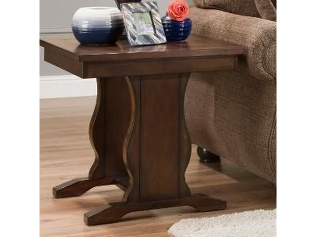 United Furniture Industries 7534Square End Table