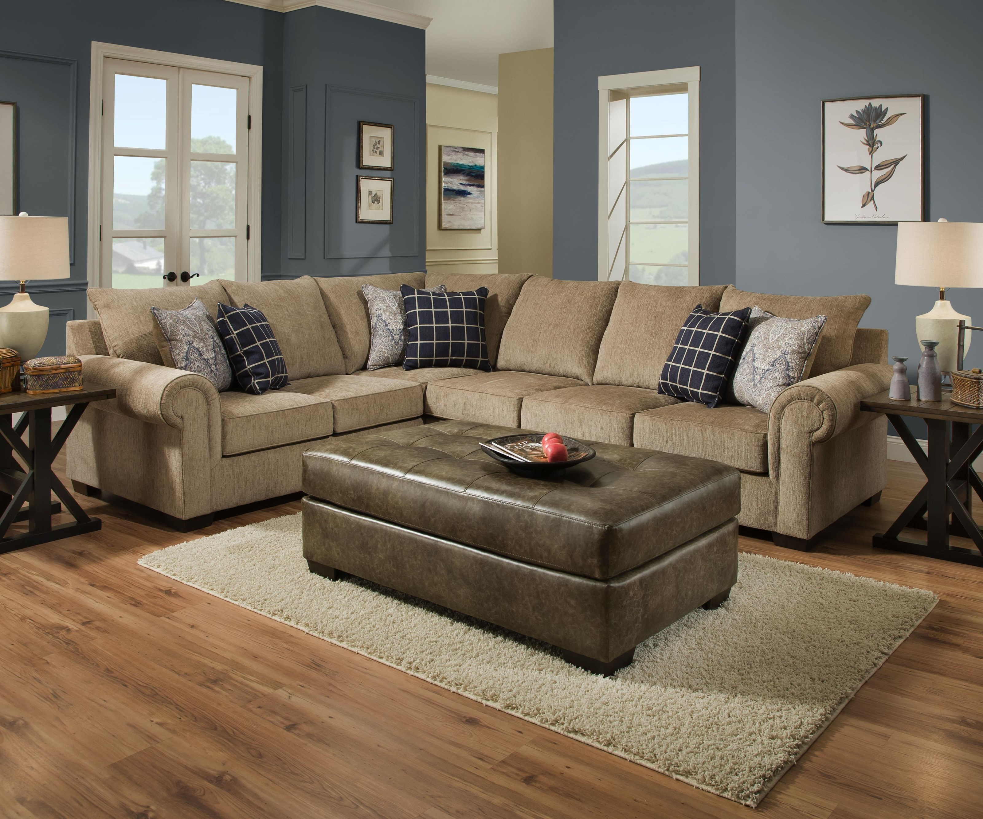 Simmons Upholstery 7592BR2 Piece Sectional