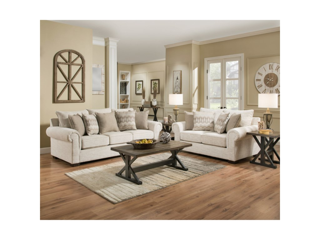 Blue Hill GrantTransitional Sofa