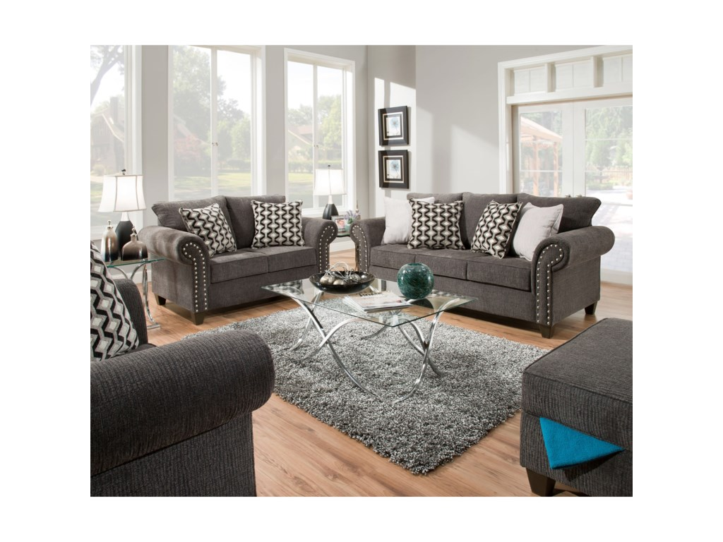 United Furniture Industries 8036 Transitional Living Room Group