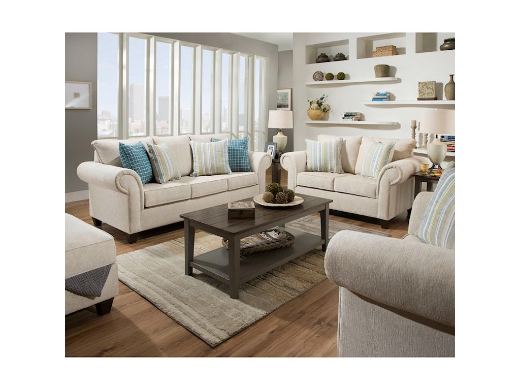 United Furniture Industries 8037Loveseat