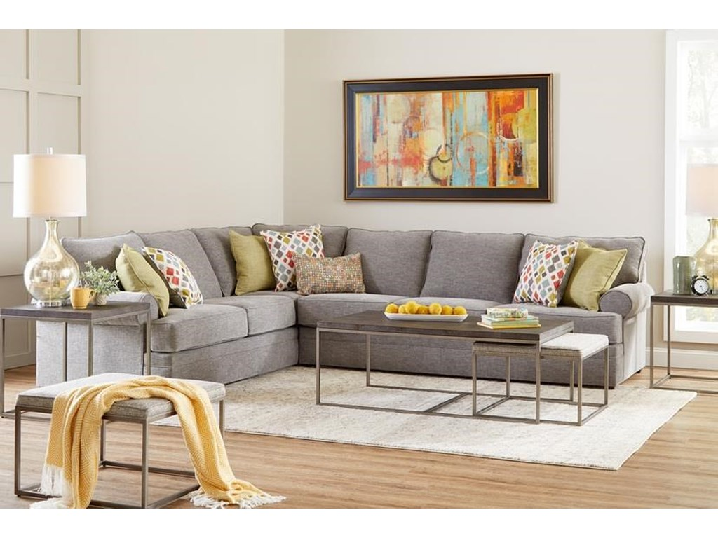 Lane Home Furnishings 8041Two Piece Sectional